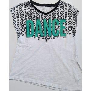 3/15 Justice Girls Glitter Dance Asymmetrical Top